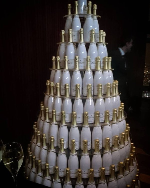 Champagne Christmas Trees - Glass Of Bubbly