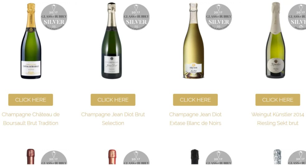 Glass of Bubbly eCommerce website